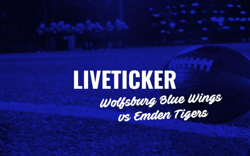 Liveticker zum Spiel Blue Wings gegen Emden Tigers am 28.4. ab 15 Uhr.